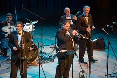 BUDAPEST: Benko Dixieland Band performs Stock Photos