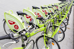 Budapest bicycle sharing system Stock Image