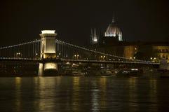 Budapest bis zum Nacht Stockfoto