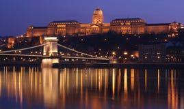 Budapest bis zum Night Lizenzfreie Stockbilder
