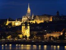Budapest bis zum Night Stockfotografie