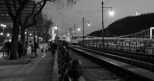 Budapest black and white. Black and white picture of night Budapest city center Stock Photo