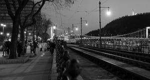 Budapest blanco y negro Foto de archivo