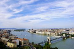 Budapest blue sky Stock Photography