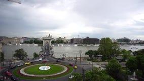 Budapest-Brückenverkehr stock video footage