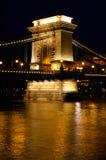 budapest bridżowy łańcuch Fotografia Stock