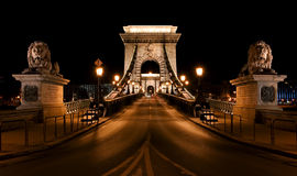 budapest bridżowy łańcuch Obraz Royalty Free