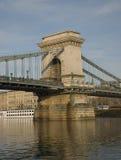 budapest bridżowy łańcuch Zdjęcie Stock