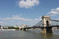 budapest bridżowy łańcuch Zdjęcia Royalty Free