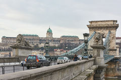 budapest bridżowy łańcuch Obrazy Stock