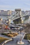 budapest bridżowy łańcuch Fotografia Royalty Free
