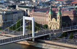 Budapest bridge Royalty Free Stock Images