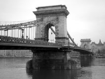 Budapest Bridge. Beautiful black and white picture of historical bridge in Budapest stock photos