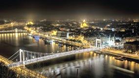 Budapest_Bridge_Elizabeth_ 免版税库存照片