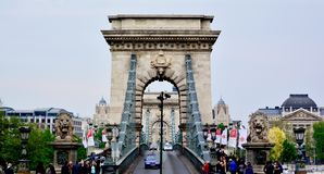 Budapest Bridge Stock Image