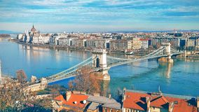 Budapest Bridge. Hungary Budapest Parlament River Architecture Royalty Free Stock Photo