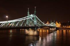 Budapest bridge at night Stock Photo