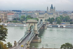 Budapest. Bridge over the Danube in Budapest stock image