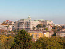 Budapest, Buda Castle. Buda Castle view from the Gellert Hill (Budapest, Hungary royalty free stock photo