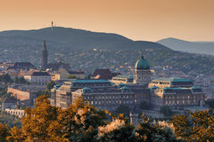 Budapest (Buda Castle). The picture shows the Buda Castle in Budapest, Hungary stock images