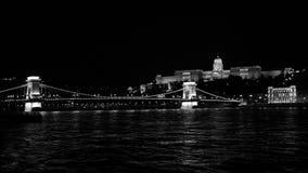 budapest bw Arkivfoton