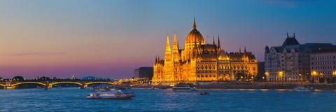 budapest byggnadsparlament Arkivbilder