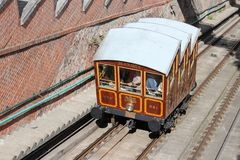 Budapest cable car Stock Photography