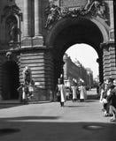 Budapest 1938 Cambio del guardia en el castillo #02 imagen de archivo