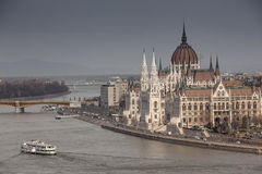 Budapest the capital of Hungary crossed by the Danube River Royalty Free Stock Photos