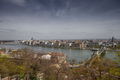 Budapest the capital of Hungary crossed by the Danube River Royalty Free Stock Photo