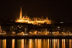 Budapest Castle. By night stock images