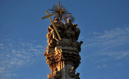 Budapest castle area statue. Top of the holy trinity statue from the Budapest castle area Royalty Free Stock Photography