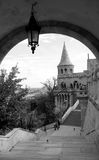 Budapest Castle District. Black and white image of Budapest's Castle District Stock Images