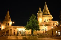 Budapest Castle hill district at night Royalty Free Stock Photo