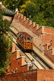 Budapest castle hill funicular Stock Photo