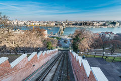 Budapest Castle Hill Funicular, Hungary. royalty free stock photos