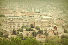 Budapest castle in Hungary at vintage style Royalty Free Stock Image
