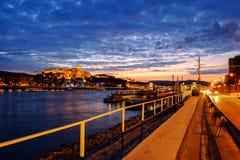 Budapest Castle at Sunset, Hungary. Budapest Castle at Sunset from danube river, Hungary Stock Photo