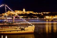 Budapest Castle at Sunset, Hungary. Budapest Castle at Sunset from danube river, Hungary Stock Photos
