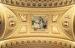 Budapest cathedral. 's Ceiling detail. (2005 Royalty Free Stock Photos