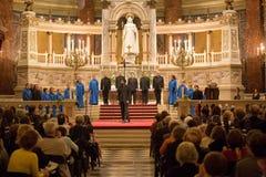 budapest chórowa Paniusia De Notre Paris wykonuje Obrazy Royalty Free