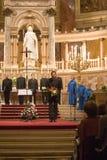 budapest chórowa Paniusia De Notre Paris wykonuje Zdjęcie Royalty Free