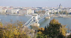 Budapest chain bridge Stock Image