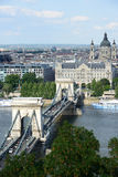 Budapest - Chain Bridge royalty free stock photos