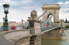 Budapest - Chain Bridge Stock Photo