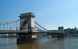 Budapest Chain Bridge Royalty Free Stock Photos