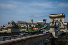 Budapest Chain Bridge. Stock Images