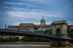 Budapest Chain Bridge. Stock Photos