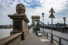 Budapest Chain Bridge. Royalty Free Stock Images