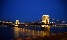 Budapest Chain bridge Stock Photos